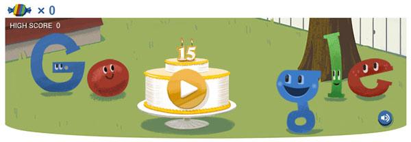 Google slaví 15. narozeniny