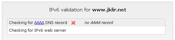 IPv6 nepodporováno
