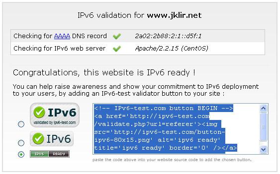 Povedlo se, Máme IPv6!!!