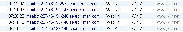 Návštěvy MSN Bot